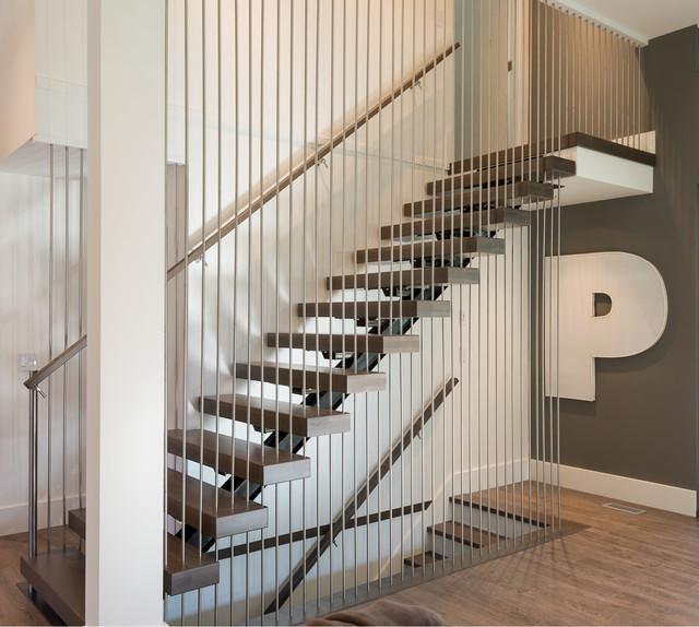 Langley Modern contemporary-staircase