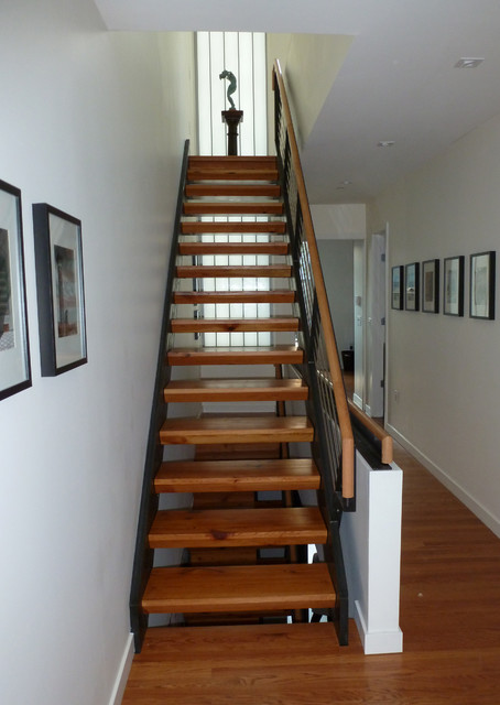 Lantern House - Reclaimed Wood Stairs - Contemporary - Staircase - philadelphia - by Paul's Woodshop