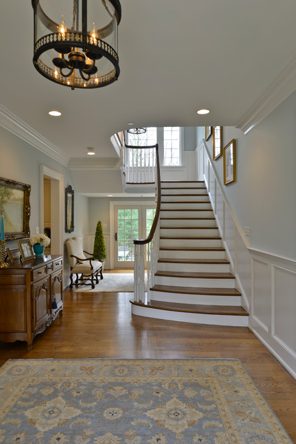 Large Entry Hall traditional-staircase