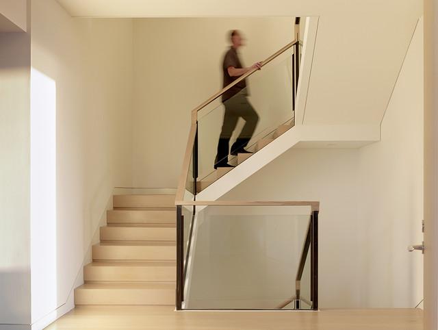 Larkin Street Residence modern-staircase