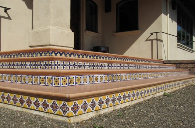 Latin Entries mediterranean staircase