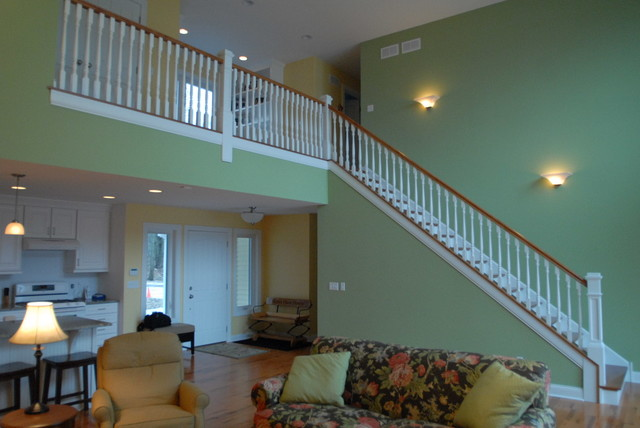 Lauderdale Lake Home - On High traditional-staircase