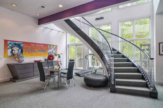Leawood Ks Villa Contemporary Staircase Kansas