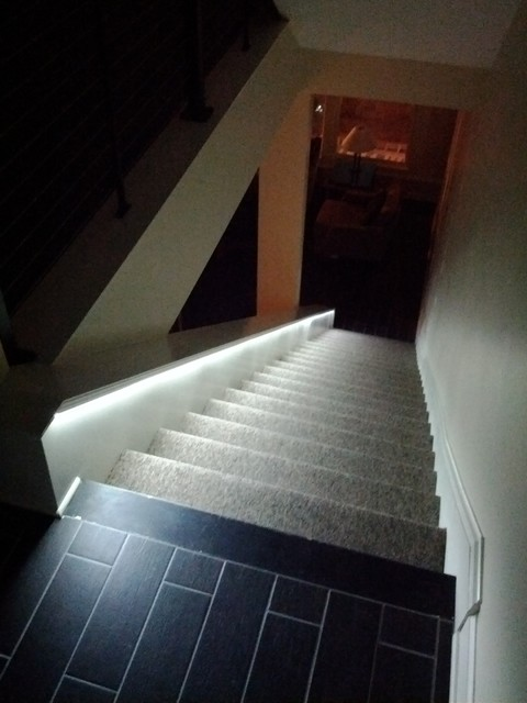 Lighting Basement Washroom Stairs: LED Lighting For Stairs