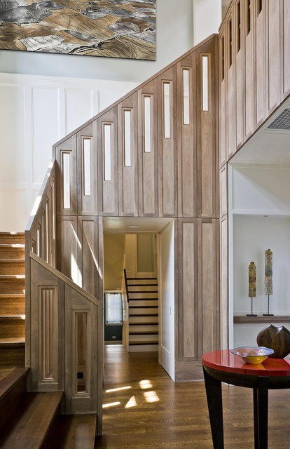 LEED-Certified Gold Home Stairway modern-staircase