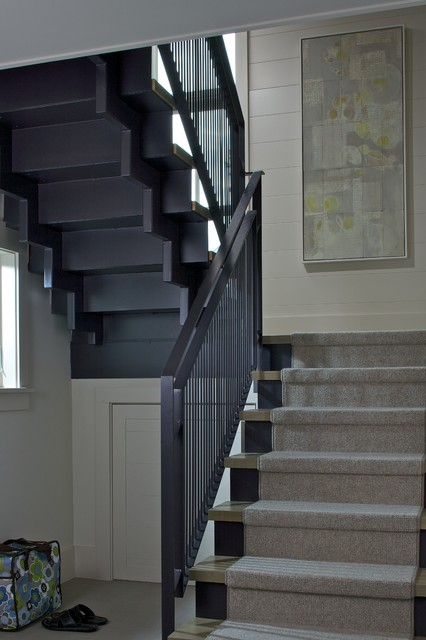 Leland Cottage eclectic-staircase