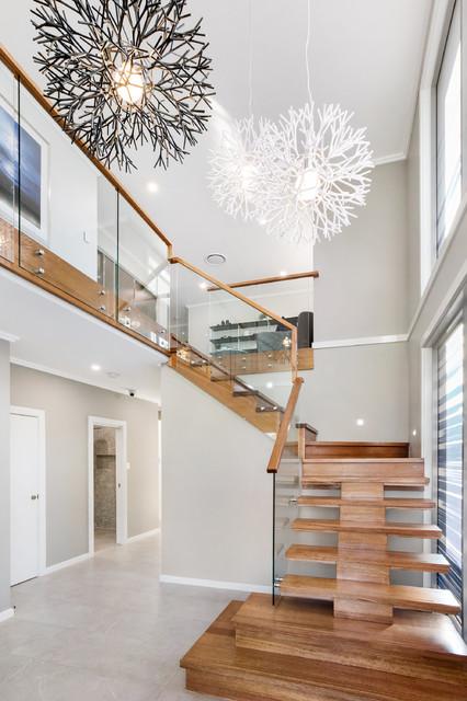 LEPPINGTON: Aston contemporary-staircase