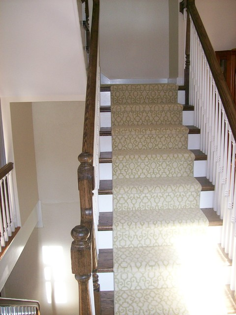 Libertyville heritage home remodel addition eclectic staircase