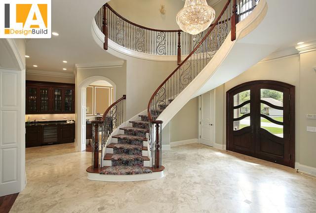 Room Mediterranean Staircase Los Angeles By LA Design Build