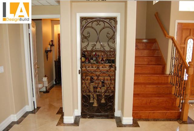 Living Room mediterranean-staircase