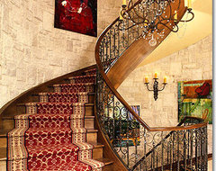 Living Rooms traditional staircase