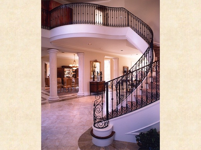 Living Rooms traditional-staircase