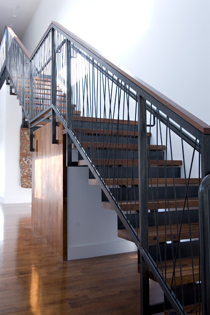 Living space modern staircase