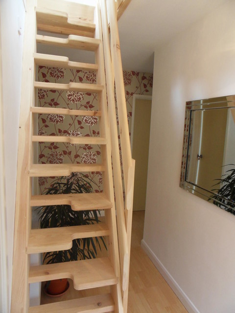 Loft Conversion Lounge   Contemporary   Staircase   Other ...