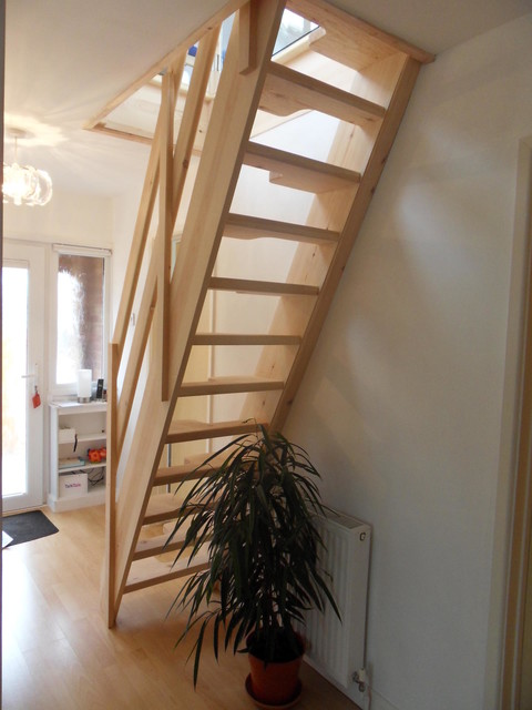 Loft Conversion Lounge - Contemporary - Staircase - Other ...