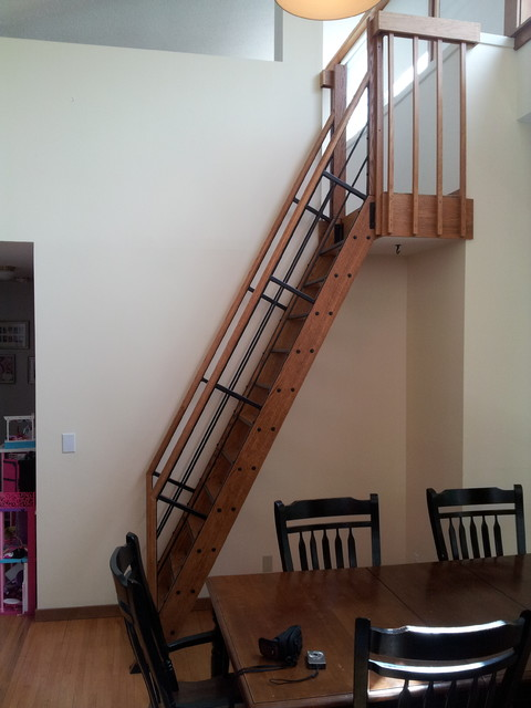 Loft Ladder Contemporary Staircase Minneapolis By
