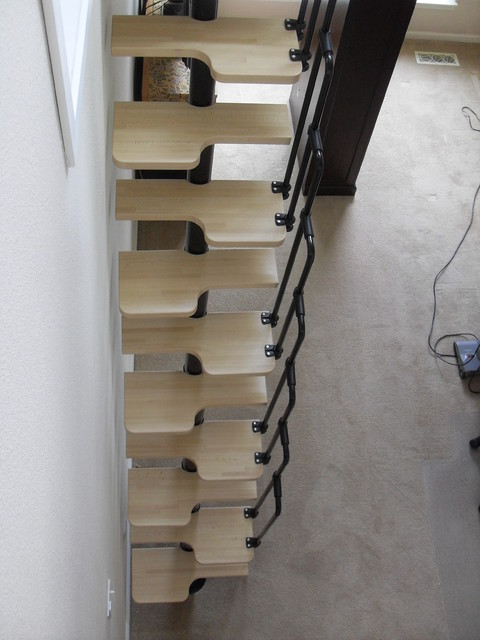 Loft ladder contemporary staircase portland by - Ladders for decorating stairs ...