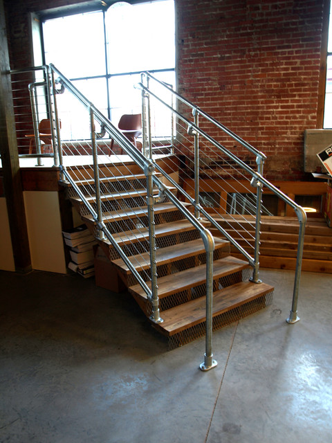 Loft stair eclectic-staircase