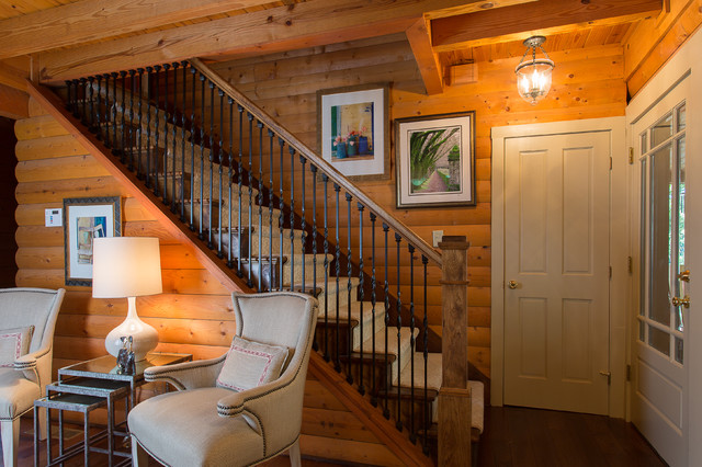 Log Cabin Home   Traditional   Staircase   Atlanta   By ...