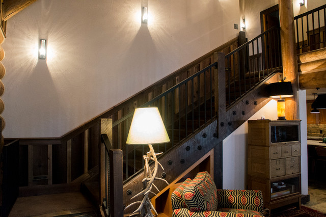 Log Cabin Remodel & Addition traditional-staircase
