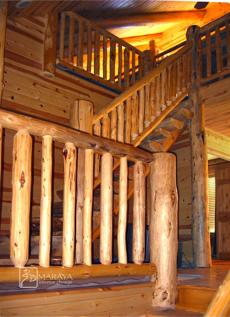 Log Railings Colorado ~ Log railings rustic staircase other metro by