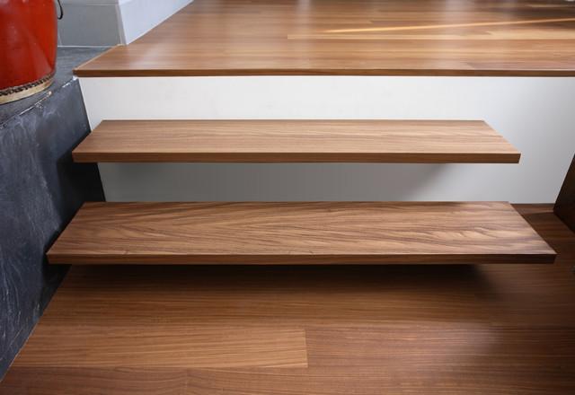 Los Gatos - Afrormosia contemporary-staircase