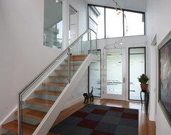 Los Gatos Contemporary Custom Home contemporary-staircase