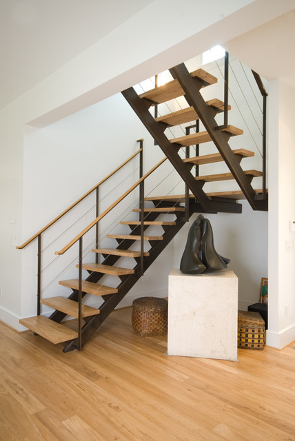 Lot 74 Contemporary Staircase Richmond By Metal Inc