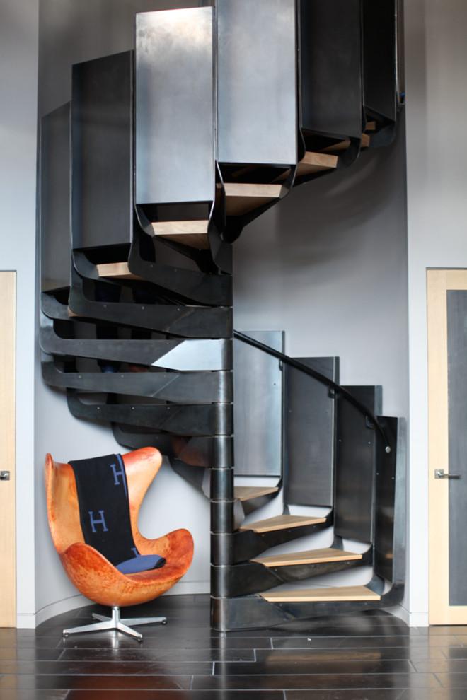 Contemporary spiral staircase in San Francisco.