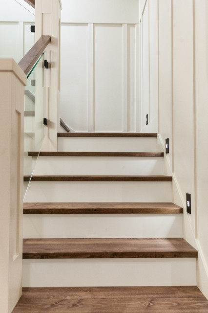 Lower Mission Home Farmhouse Staircase Other By Kelowna Absolute Interior Design Inc