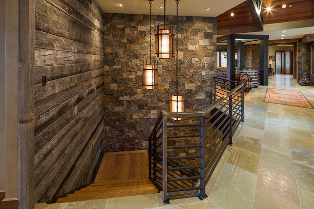 Rustic Mountian Stair Railings: Jackson, WY