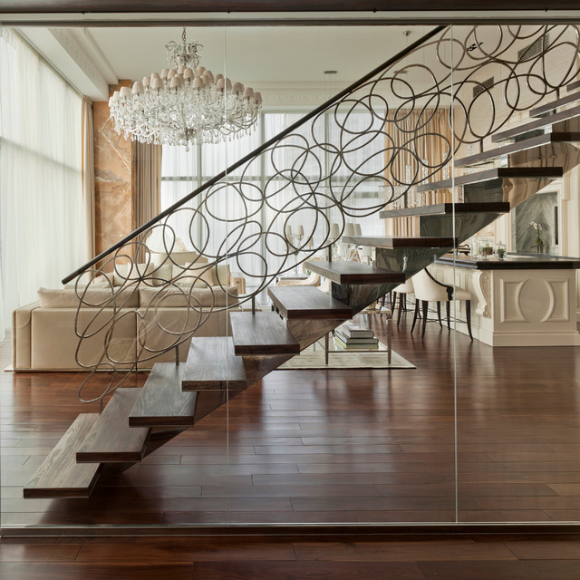 Luxury Penthouse - Contemporary - Staircase - New York - by AKCHURIN NY