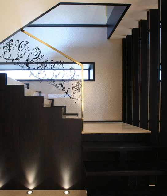 M Penthouse contemporary-staircase