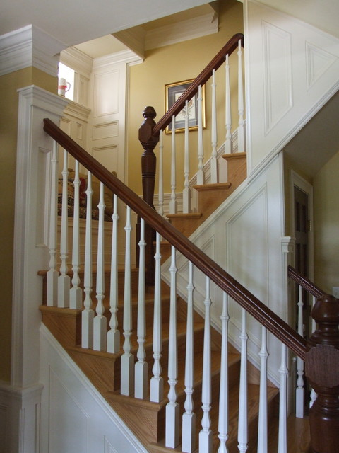 Main Staircase With Beautiful Trim Details In Westfield