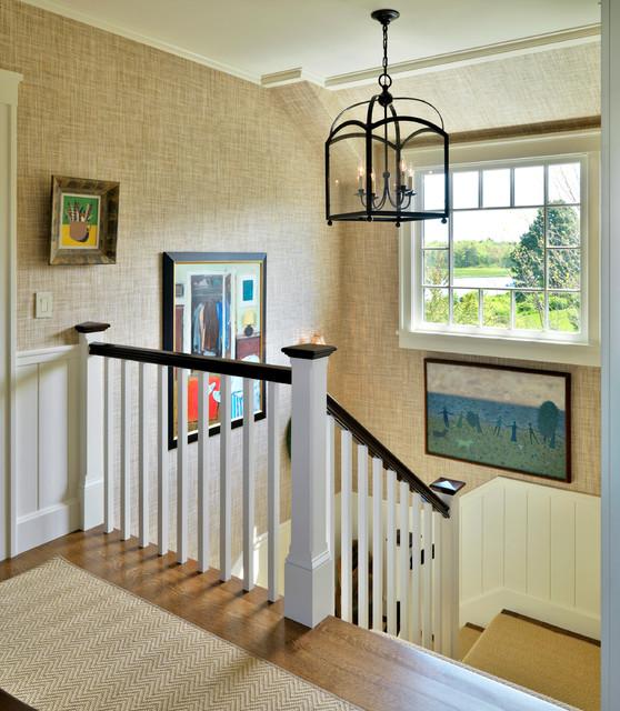Maine Retreat beach-style-staircase
