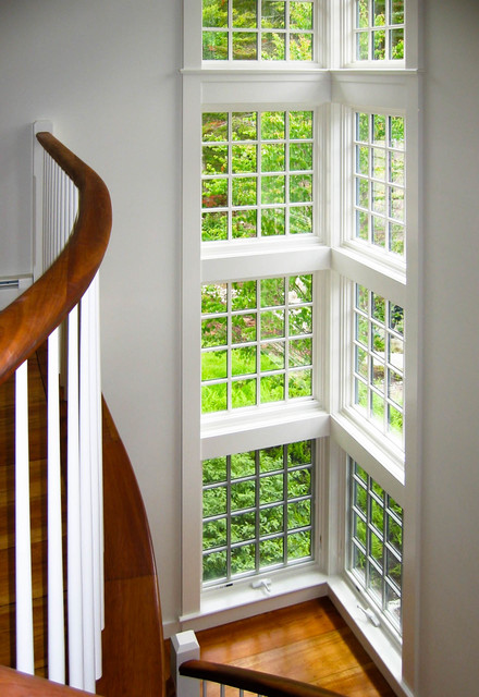 Maine Summer Cottage traditional-staircase