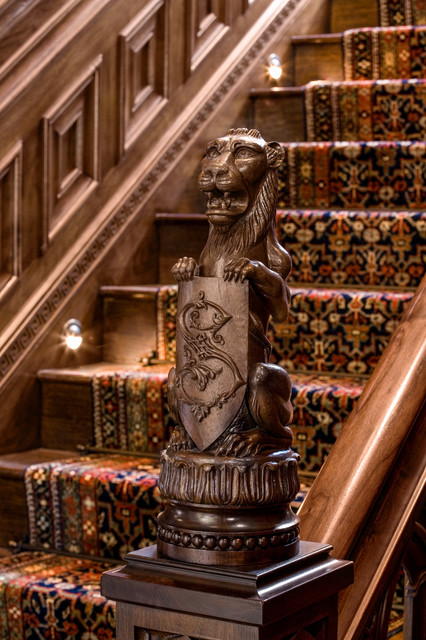 Malinard Manor - Stairwell traditional-staircase