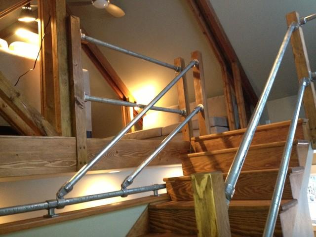 Manhattan Barn industrial-staircase