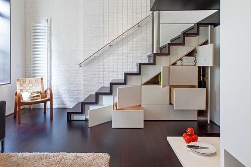 Escalier multifonction avec rangements