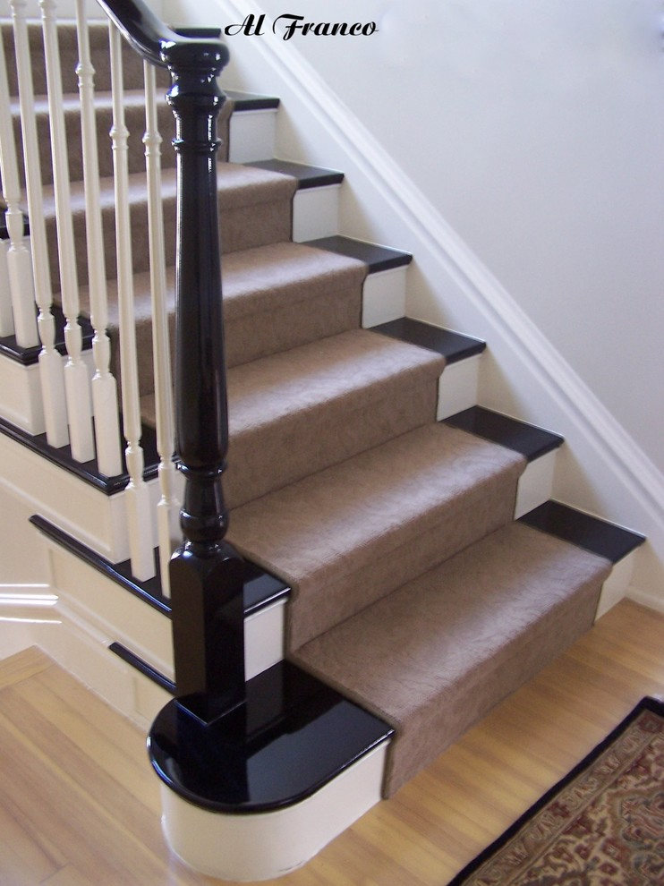 Example of a classic staircase design in Denver