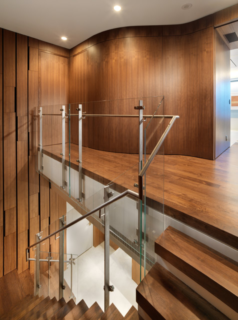 Market street penthouse staircase modern staircase - Appartement duplex winder gibson architecte ...