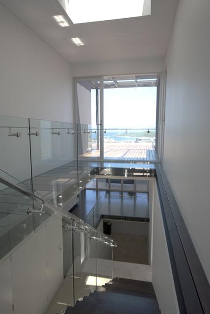 Maroubra glass steel Stair modern-staircase