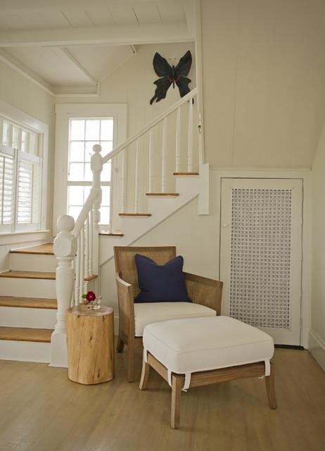 Martha's Vineyard Living Room traditional-staircase