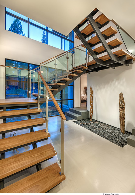 Martis Camp - Modern Mountain Living contemporary-staircase