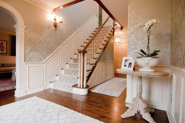 Mary Best Designs Traditional Staircase Milwaukee