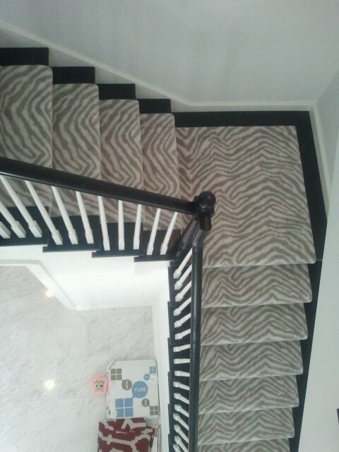 Beau Masland Animal Print Contemporary Staircase