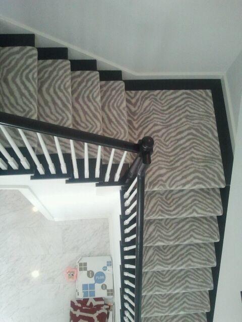 Merveilleux Masland Animal Print   Contemporary   Staircase   Chicago ...