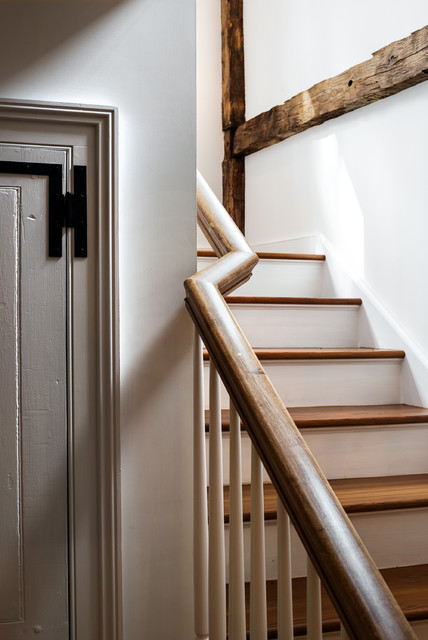 Massachusetts Farm House Farmhouse Staircase New