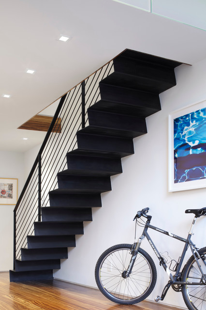 meat packing duplex contemporary staircase new york