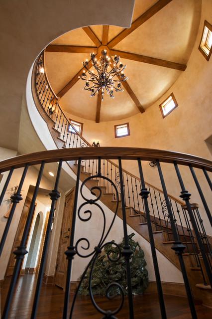 Mediterranean Custom Residence mediterranean-staircase